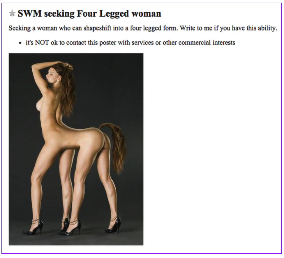 The Most Bizarre Craigslist Ads