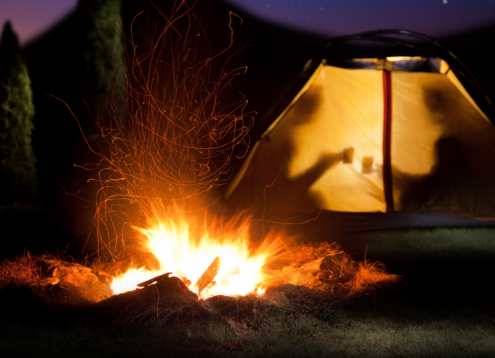 romantic valentines day camping trip